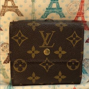 Authentic Louis Vuitton Monogram Ellise Wallet